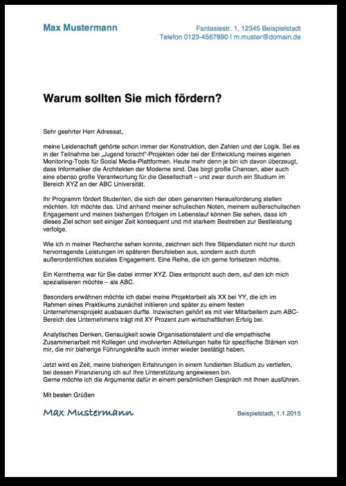Motivationsschreiben verfassen: Anleitung & Muster | karrierebibel.de
