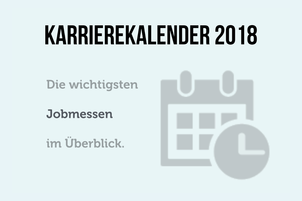 Karrierekalender 2018 Cover Jobmessen