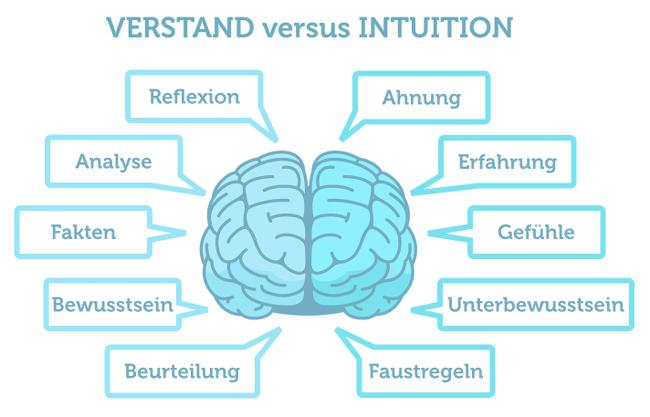 Verstand versus Intuition intuitive Wahrnehmung