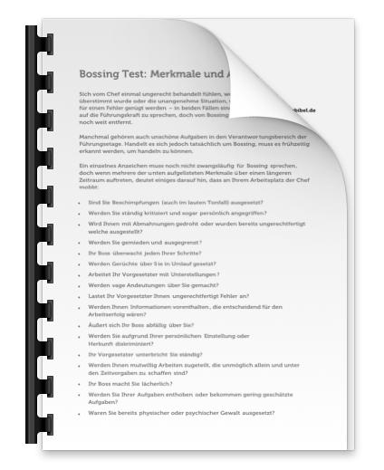 Bossing Test PDF Merkmale Anzeichen Bild Download