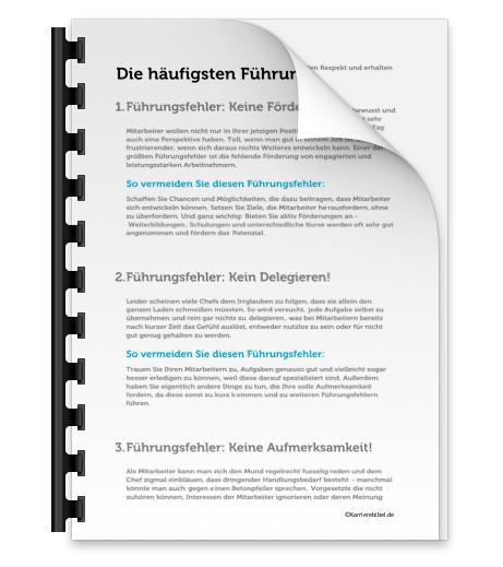 Fuehrungsfehler schlechte Fuehrungseigenschaften Verhaten Chef Mitarbeiterfuehrung Auswirkungen PDF Bild