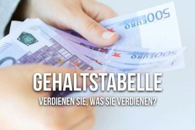 Gehaltstabelle: Das können Sie verdienen