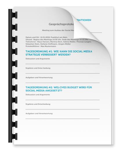 Gespraechsprotokoll PDF Download Vorlage Muster Bild