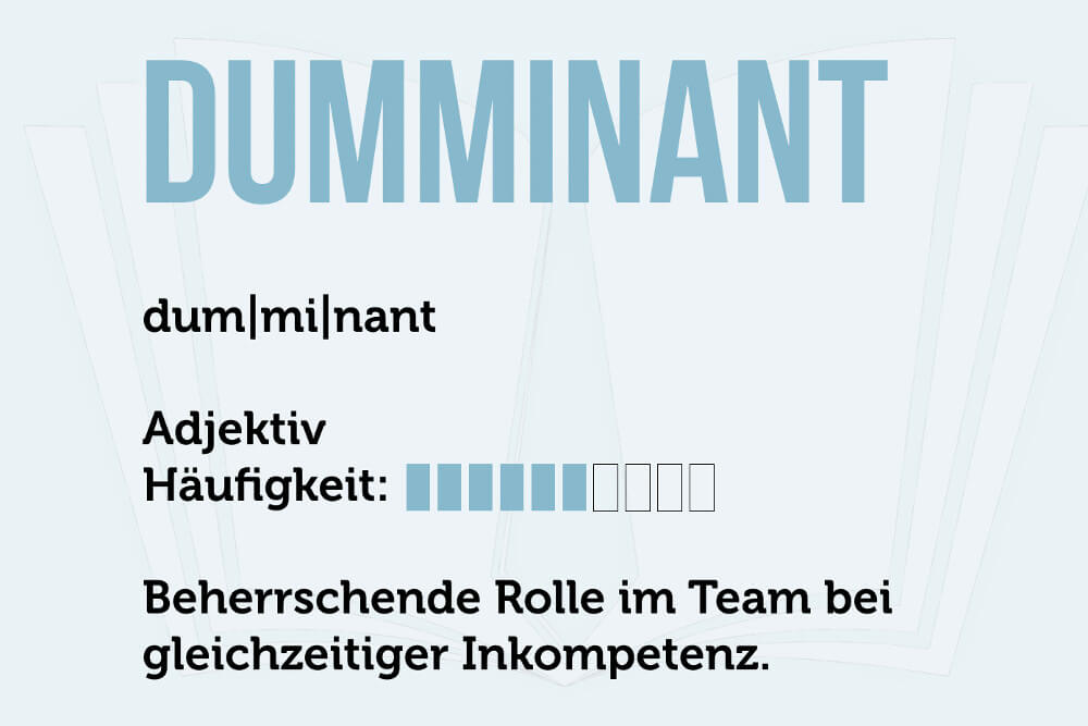 Dumminant Inkompetenz Definition Spruch Grafik