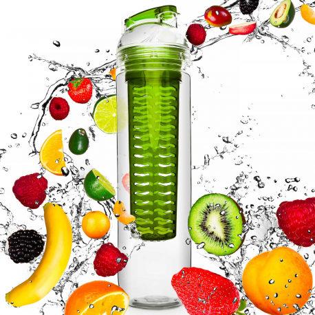 Fruitbottle 800ml Sport Trinkflasche Grun