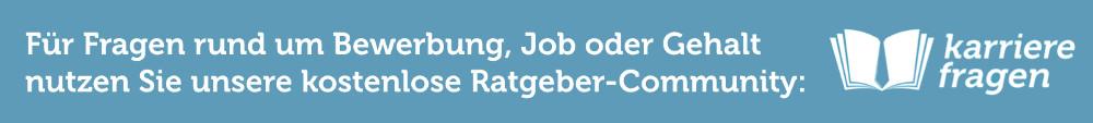 Karrierefragen Hinweis