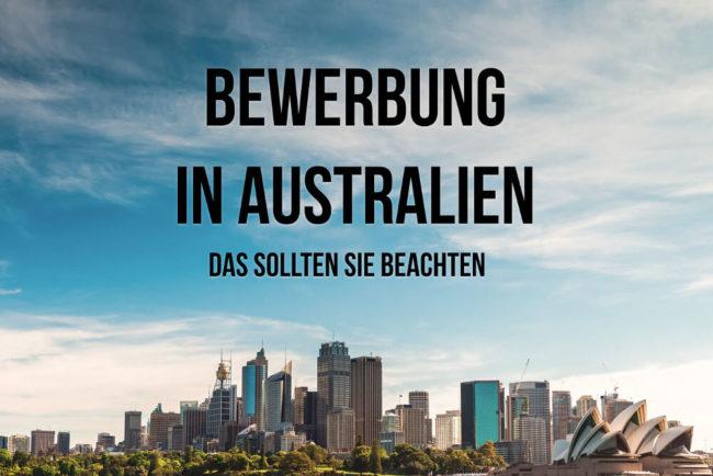Bewerbung In Australien Das Müssen Sie Wissen Karrierebibelde