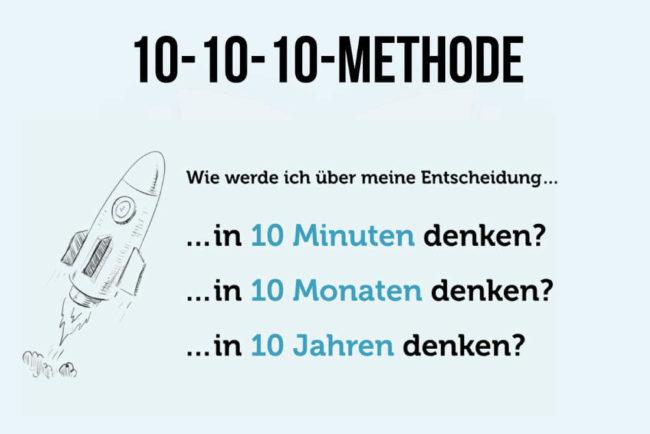 10-10-10-Methode: Bessere Entscheidungen treffen