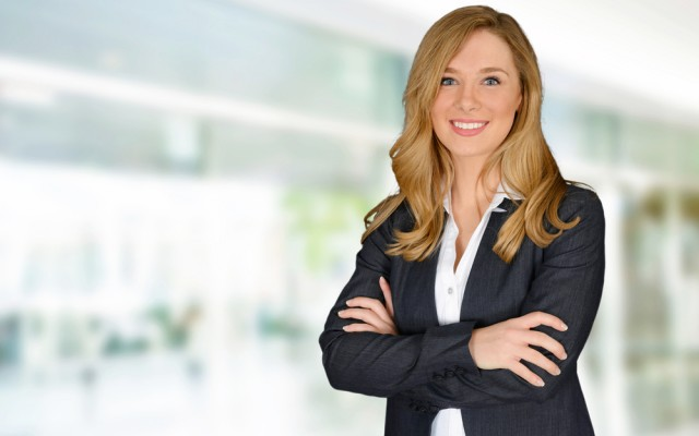 Erfolgreiche Managerinnen-Frau-Anzug