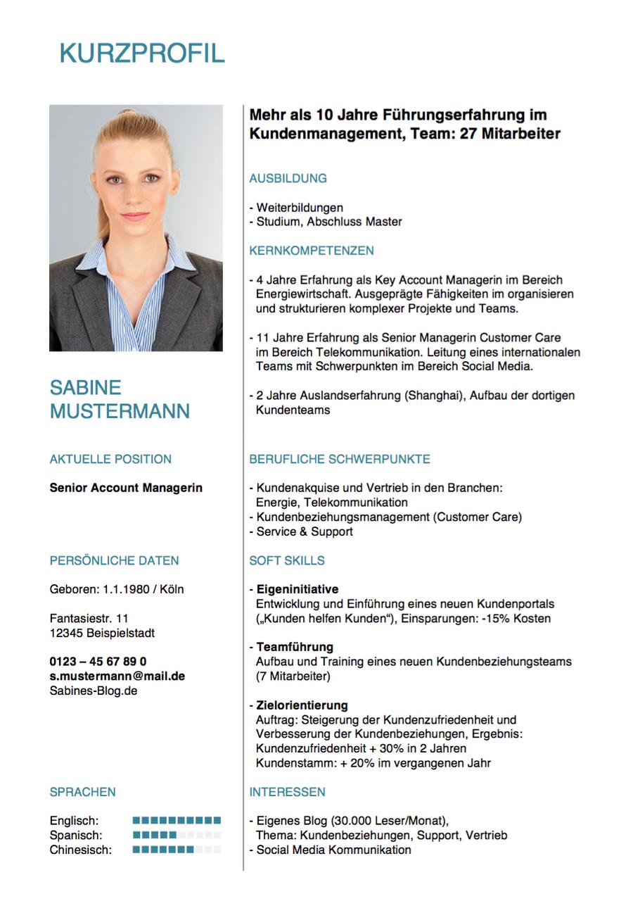 Kurzprofil: Tipps und Muster für Aufbau und Inhalt | karrierebibel.de