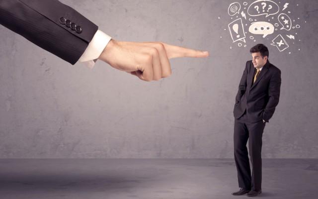 Streitlustiger Chef-Mann-Fragen