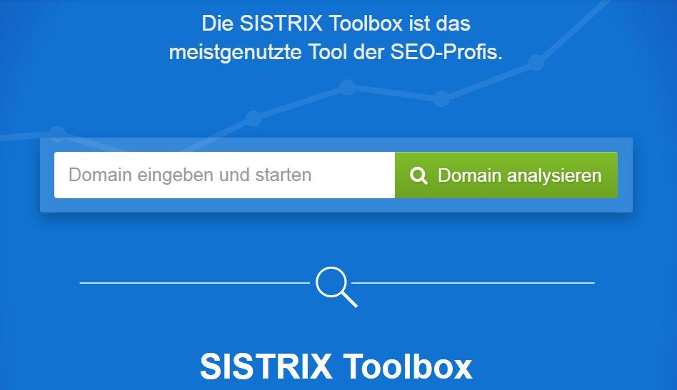 Keywordrecherche Sistrix Toolbox