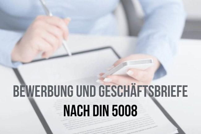 Bewerbung Nach Din 5008 Normen Regeln Anleitung