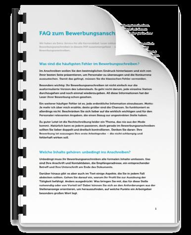 Bewerbungsanschreiben FAQ Fragen Antworten Tipps