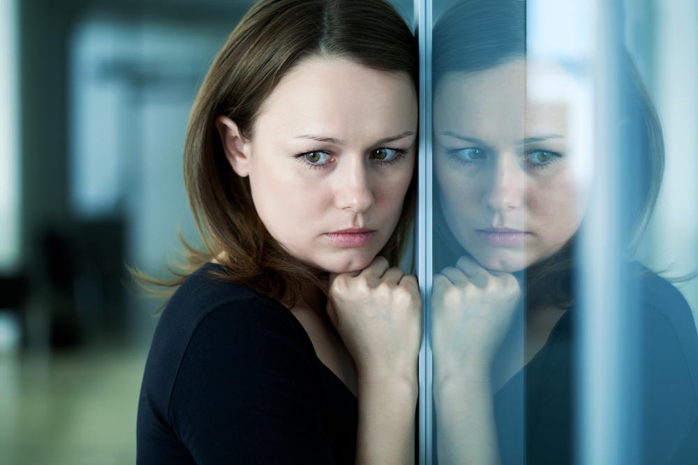 Depressionen im Studium Glaswand traurig
