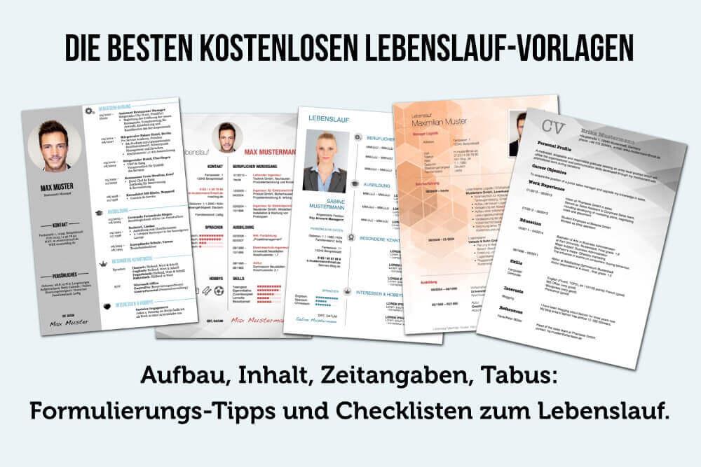 Lebenslauf: Aufbau, Inhalt, kostenlose WORD-Vorlagen | karrierebibel.de