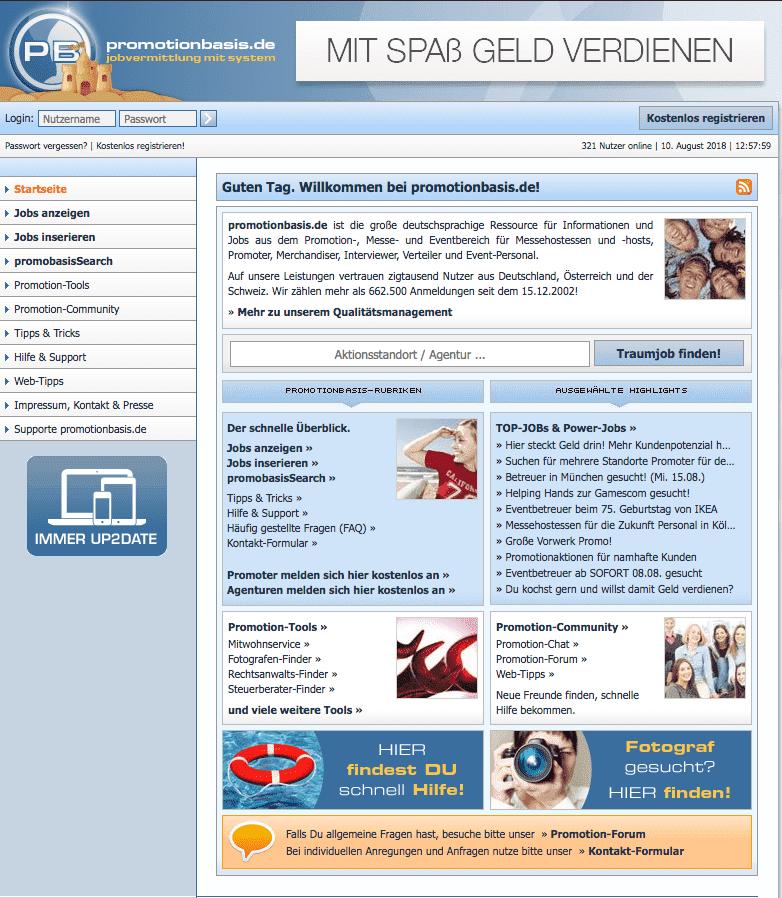 Promotionbasis Startseite Jobs Jobportal Nebenjobs