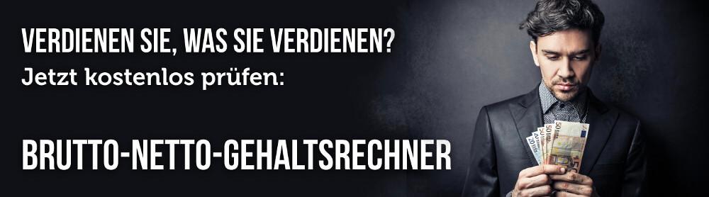 Brutto Netto Rechner Gehalt Euro Startseite Banner