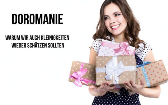 Doromanie Geschenksucht Geschenkzwang psychische Stoerung Manie Frau Geschenke