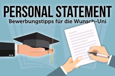 Personal Statement: Bewerben an der Wunsch-Uni