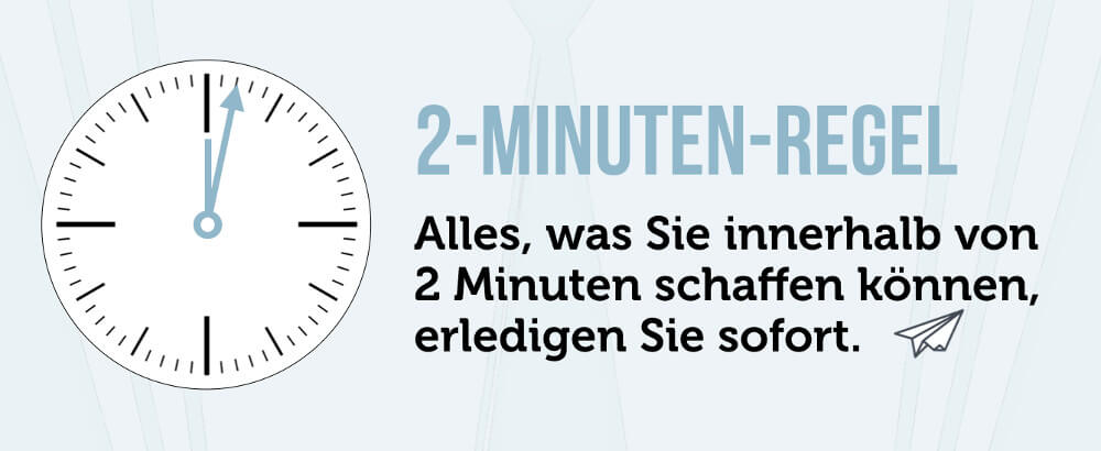 2 Minuten Regel GTD Methode Zeitmanagement