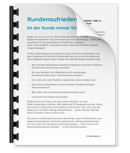 Kundenzufriedenheit Steigern Pdf Download Kunde Koenig Ausnahme