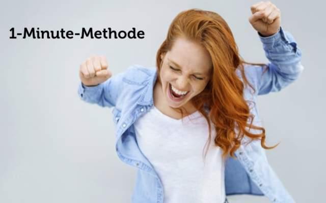 1 Minute Methode one minute prinzip Kaizen Mini Habits junge Frau Erfolg