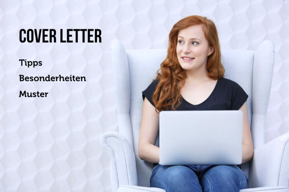 Cover Letter example job application template Word Beispiel junge Frau