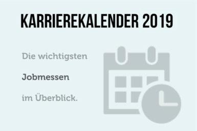 Karrierekalender 2019: Jobmessen im April und Mai