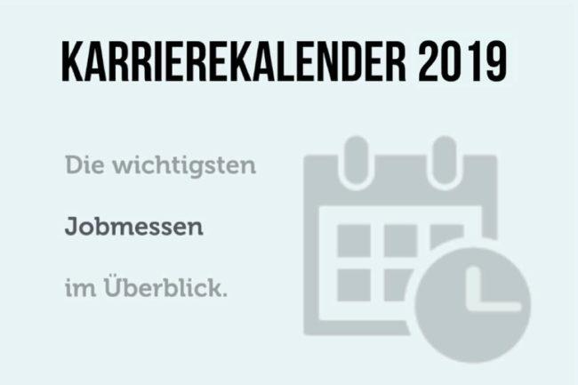 Karrierekalender 2019: Jobmessen im August und September
