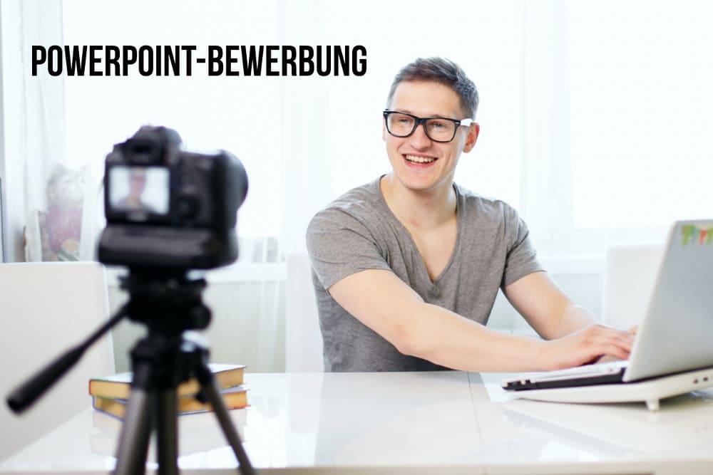 Powerpoint-Bewerbung: Sich selbst gut in Szene setzen