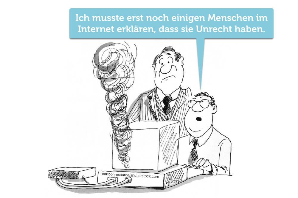 Ueberheblichkeit Arroganz Profilneurose Besserwisser Cartoon