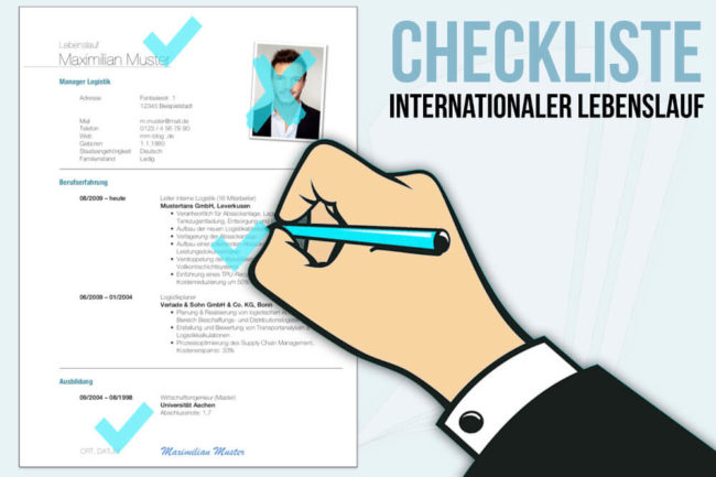 Internationaler Lebenslauf Checklisten Für Die Bewerbung