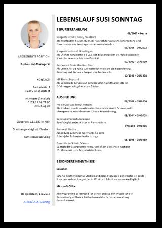 Lebenslauf Vorlage Muster Bewerbung Vordruck Kostenlos Tabellarisch 05