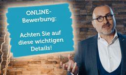 Video Vorschau Online Bewerbung Details Wichtig