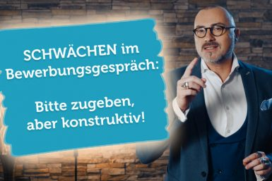Schwächen im Vorstellungsgespräch: Ehrlich und konstruktiv antworten!