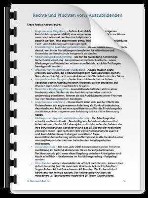 Checkliste Azubi Rechte Pflichten PDF eBook Cover