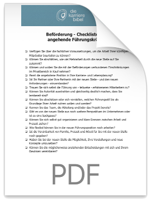 Checkliste Befoerderung PDF eBook Cover