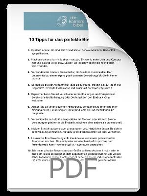 Checkliste Bewerbungsfoto PDF eBook Cover