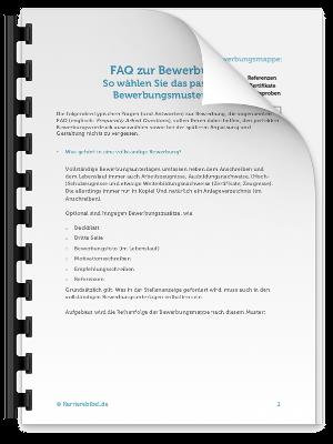 Checkliste FAQ Bewerbung PDF eBook Cover