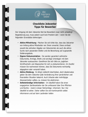Checkliste Jobcenter PDF eBook Cover