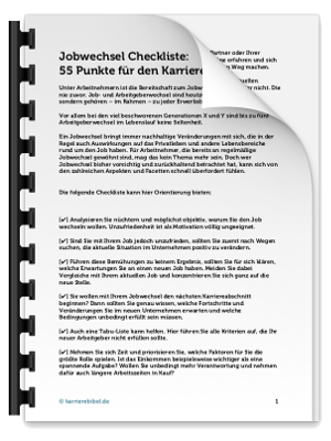 Checkliste Jobwechsel PDF eBook Cover