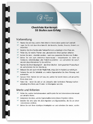 Checkliste Karriereplanung PDF eBook Cover