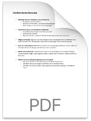 Checkliste Klausurvorbereitung PDF eBook Cover