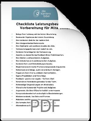 Checkliste Leistungsbeurteilung PDF eBook Cover