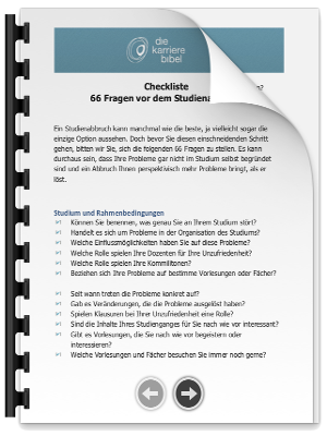 Checkliste Studienabbruch PDF eBook Cover