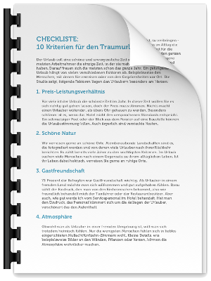 Checkliste Traumurlaub PDF eBook Cover
