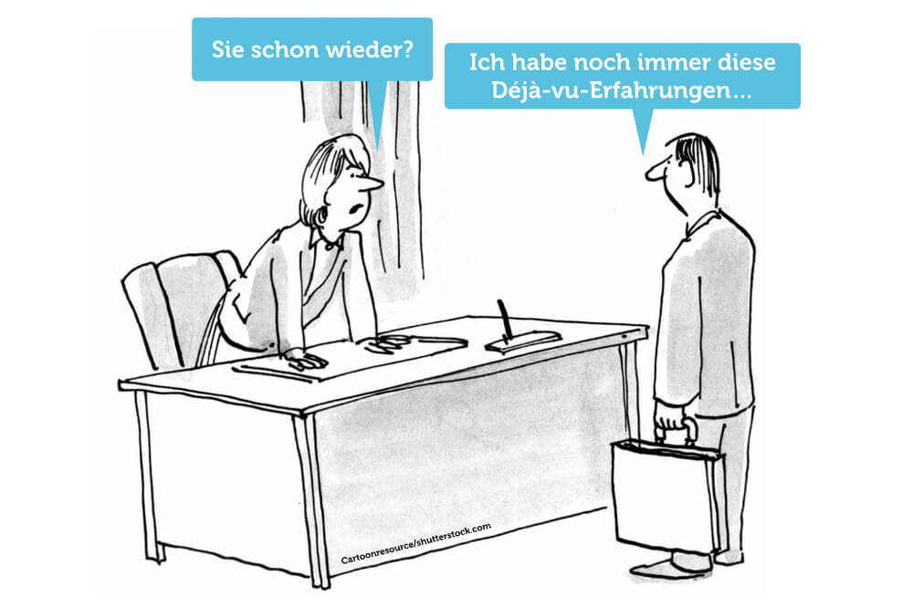 Deja Vu Erlebnis Psychologie Cartoon Comic Grafik