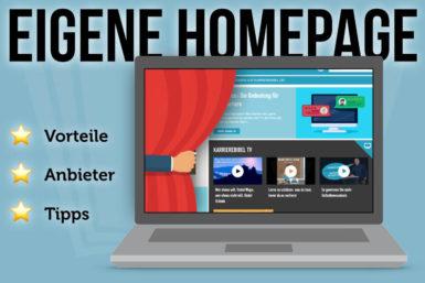 Eigene Homepage: Anbieter, Vorteile, Tipps