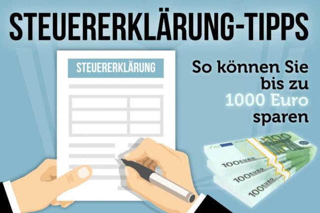 Steuererklärung: Bis zu 1000 Euro sparen